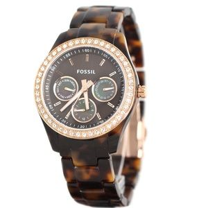 FOSSIL Tortoise Shell with Rose Gold Watch